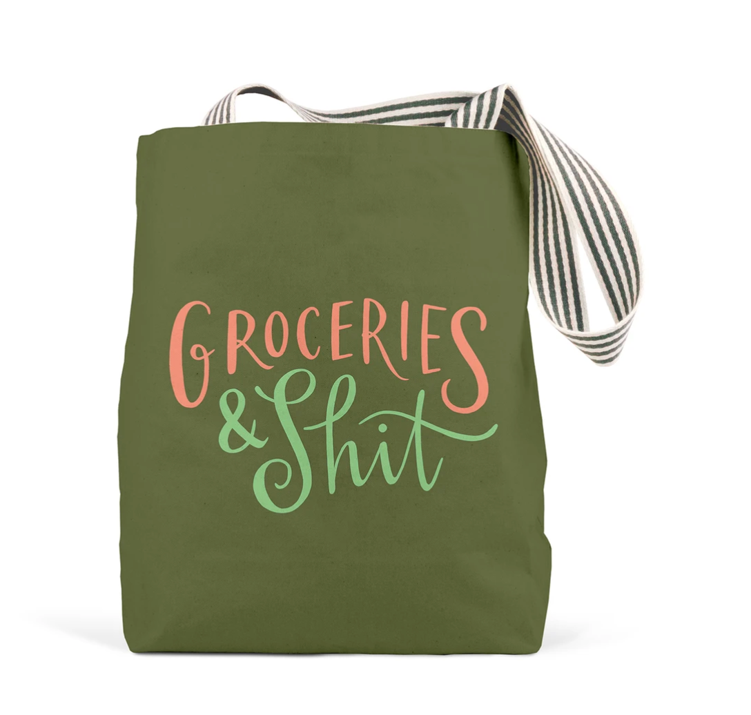 Tote - Groceries & Shit - Olive
