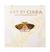Load image into Gallery viewer, Enamel Pin - Floral Moth