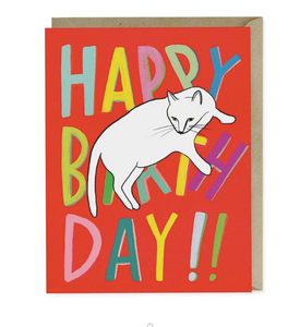 Card - Sprawled Cat Birthday