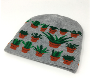 Hat - Potted Plants - Gray