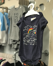 Load image into Gallery viewer, Onesie - Rainbow on Heather Navy 6-12 Months