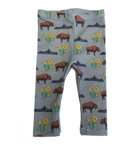 Baby Leggings - Buffalo Poppies