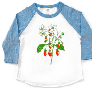 Youth Baseball Tee: Strawberry Plant