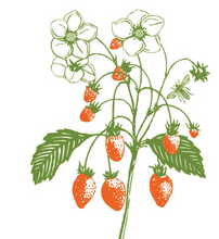 Load image into Gallery viewer, Youth Baseball Tee: Strawberry Plant