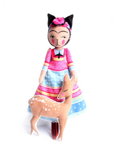 DIY Craft Kit - Sewing - Frida the Cat and Her Fawn