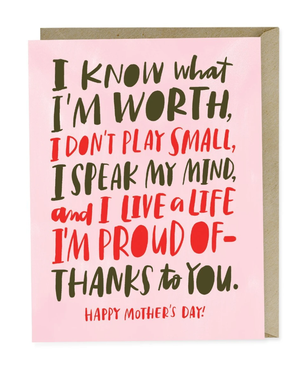 Card - Know My Worth - Mother's Day