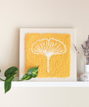 Load image into Gallery viewer, DIY - Punch Needle Kit - Ginko Yellow