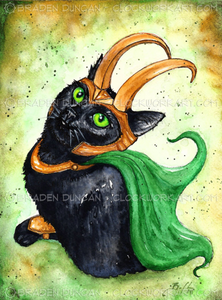 Card - Loki Kitten