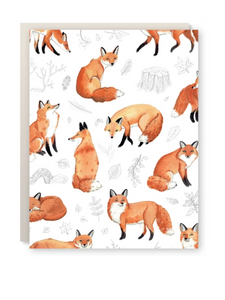 Card - Foxes & Foliage
