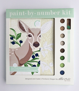 DIY - Paint By Number Kit - Deer with Huckleberries