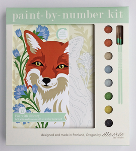 DIY - Paint By Number Kit - Fox with Chicory