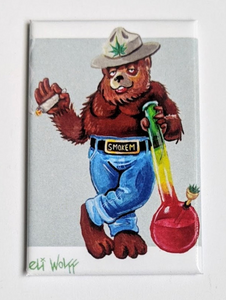 3x2 Magnet - Smoked Out Bear