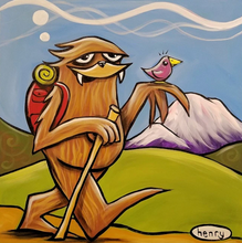 Load image into Gallery viewer, Sticker - Sasquatch Hiking Sticker