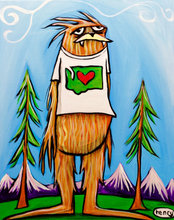 Load image into Gallery viewer, Sticker - Sasquatch is Big in Washington