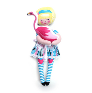 DIY - Alice, Dinah and the Flamingo (and the cheshire cat!)