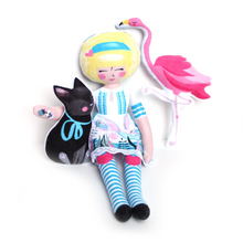 Load image into Gallery viewer, DIY - Alice, Dinah and the Flamingo (and the cheshire cat!)