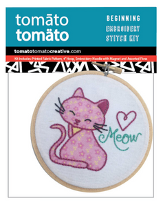 DIY - Kitty Embroidery Kit