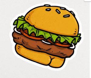 Sticker - Burger Butt