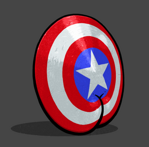 Sticker - Captain America Shield Butt