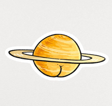 Load image into Gallery viewer, Sticker - Saturn Butt