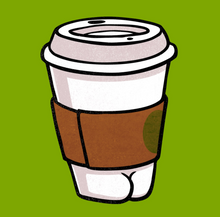 Load image into Gallery viewer, Sticker - Starbucks Coffee Butt