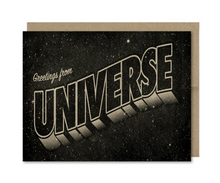 Load image into Gallery viewer, Card - Greetings from the Universe (Galek Sea)
