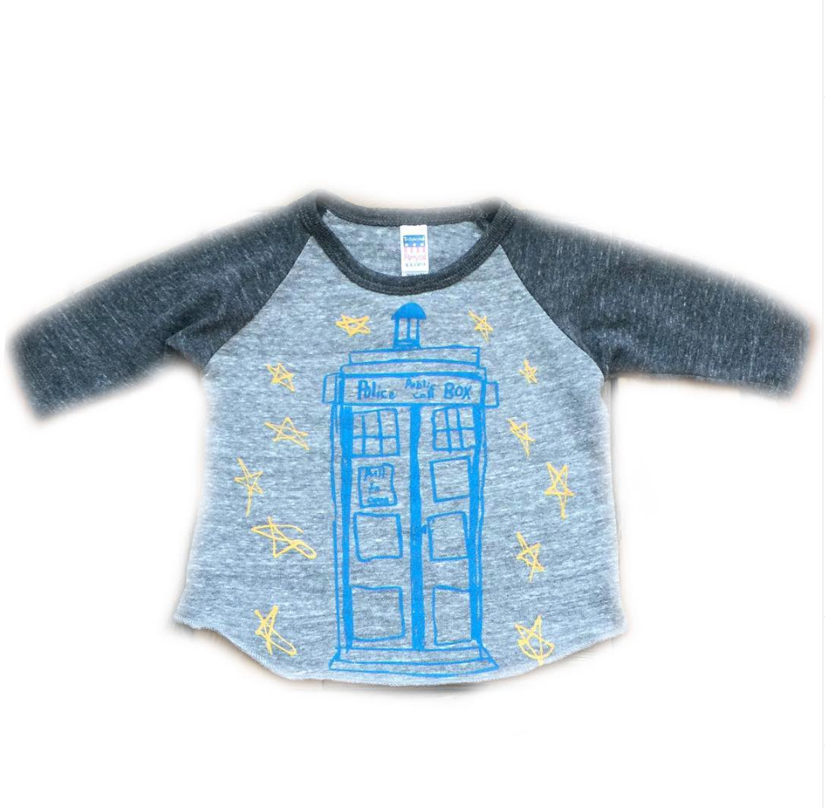 Toddler Baseball Tee - Tardis - Doctor Who - Unisex Crew