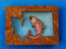 Load image into Gallery viewer, Magnet - Washington Salmon