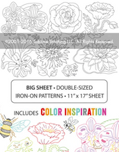 Load image into Gallery viewer, BIG SHEET Embroidery Patterns - BIG BLOOMS