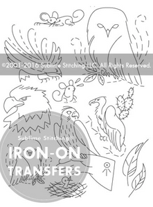 Craft Supply - Embroidery Pattern - Birds of Prey