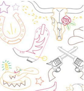 Craft Supply - Embroidery Pattern - Country Cool
