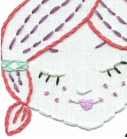 Craft Supply - Embroidery Pattern - Cute Little Heads