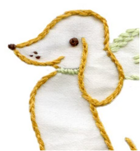 Craft Supply - Embroidery Pattern - Darling Dachshunds