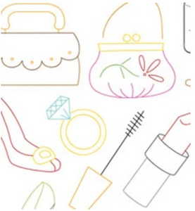 Craft Supply - Embroidery Pattern - Dress Up