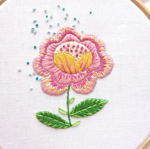 Craft Supply - Embroidery Pattern - Fantasy Flowers