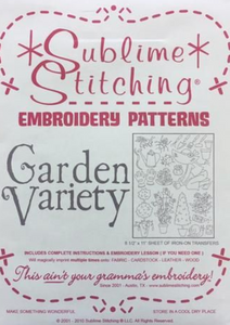 Craft Supply - Embroidery Pattern - Garden Variety