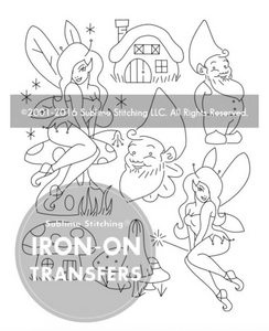 Craft Supply - Embroidery Pattern - Gnomes & Fairies