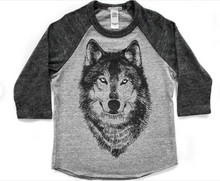 Load image into Gallery viewer, Youth Baseball Tee: Wolf
