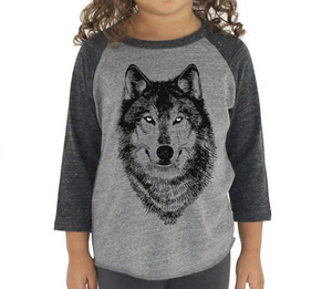 Youth Baseball Tee: Wolf