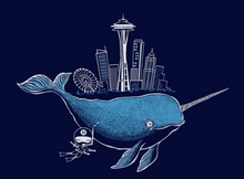 Load image into Gallery viewer, Toddler Shirt: Seattle Narwhal - Unisex Crew