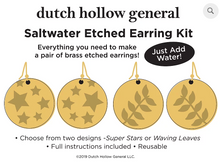 Load image into Gallery viewer, DIY - Saltwater Etched Earring Kits (Dutch Hollow General)