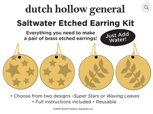 DIY - Saltwater Etched Earring Kits (Dutch Hollow General)