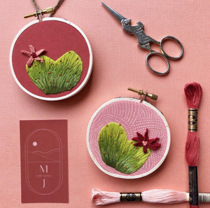 DIY Craft Kit - Embroidery - Heart Cactus