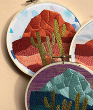 Load image into Gallery viewer, DIY Craft Kit - Embroidery - Cactus Desert