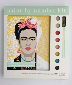 DIY - Paint By Number Kit - Frida with Flowers (Yellow)