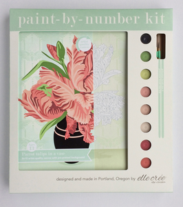 DIY - Paint By Number Kit - Parrot Tulips in Vase