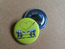 Load image into Gallery viewer, Bottle Opener Keychain - Love AT-AT First Sight - Yellow