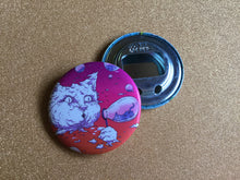 Load image into Gallery viewer, Bottle Opener Keychain - Bubble Cat - Sunset