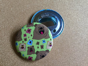 Bottle Opener Keychain - Pattern Bear