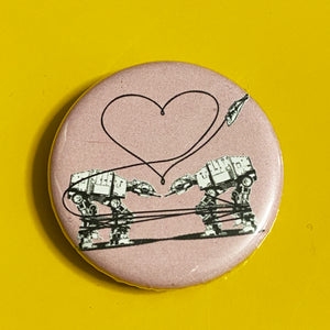 Magnet - 1.25 Inch: Love AT-AT First Sight - Pink